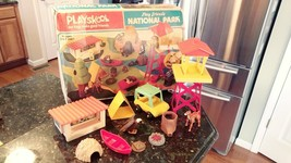 Vintage PLAYSKOOL Play Friends NATIONAL PARK Set 1975 With Box Incomplete - $60.95
