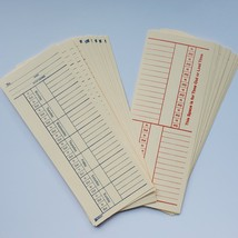 Time Cards. Set of 20. Two-Sided. Great For Junk Journals
