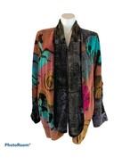 Western Horse Art Velour Oversized Jacket Blazer One Size OS 2X 3X Cowgi... - $75.00