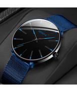 GENENA Men Watch Men Sport Mens Watches top Brand Luxury Blue Mesh Belt ... - $13.00+