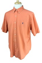 Ralph Lauren Polo Men's Classic Fit Short Sleeve Orange Shirt XL - $26.72
