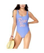 California Waves Juniors' Rosé Bae Graphic One-Piece High-Leg Swimsuit P... - $23.76