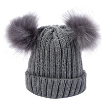 winter warm caps Women Fashion Warm Winter Hats Knitted Wool Hemming Hat - $14.50