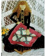 Stuffed Soft Toy Emily Pioneer Angel Doll Double Irish Chain Quilt Sew P... - $12.99