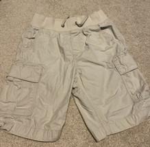 GAP Kids Boys Pull Up Cargo Shorts Stone Size Large Regular - $8.59
