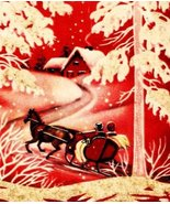 Horse Sleigh Snow Winter Scene Vintage Inage - $8.64 CAD