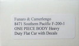 Funaro & Camerlengo HO SP F-200-1  ONE PIECE BODY Heavy Duty Flat Car kit 8471 image 2