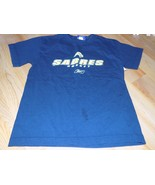 Youth Size Medium Reebok NHL Buffalo Sabres Hockey Navy T Shirt Top EUC - $12.00
