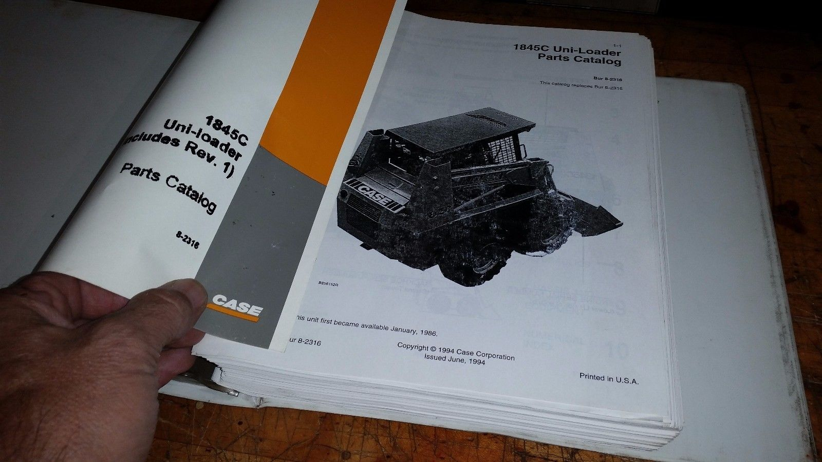 CASE 1845C UNI-LOADER PARTS CATALOG Manual Book