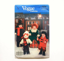 "Vogue 7878 Christmas Carolers Decorative Dolls 8-12"" Tall Uncut Sewing P... - $7.80"