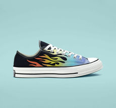 Converse Chuck 70 Ox Flames Archive Print Canvas 164407C Black/Turf Orange/Egret image 5