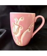 2006 Starbucks Pink Tulip Flower Mug Floral Coffee Mug 14oz Rare Print! - $23.38