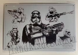 "Star Wars White soldier Art print Wall Metal Sign plate Home decor 11.75"" x 7.8"""