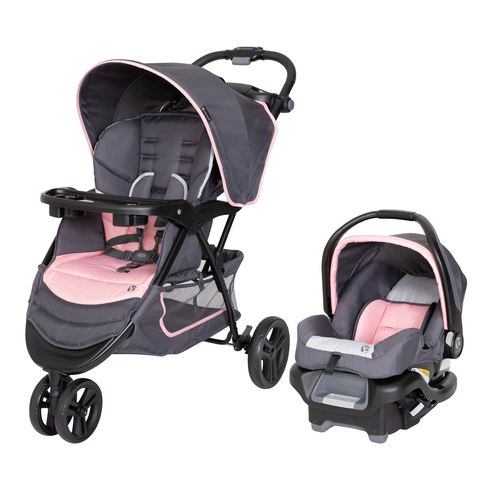 Baby Trend Flamingo EZ Ride Jogger Travel System, Flamingo Pink - $117.99
