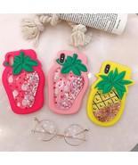 Cute Strawberry Liquid Glitter Quicksand iPhone Case XR X XS Max 6 6S 7 ... - $6.99
