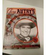 Gene Autry De Luxe Edition Of Famous Original Cowboy Songs 1938 - $4.46