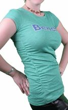 Bench Urbanwear Womens Green Heather Deckhand Logo T-Shirt BLGA2358 NWT image 3
