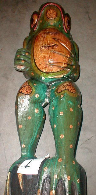 Frog Super Large Size Statue 39 inch with umbrella Hand carved in Bali image 5