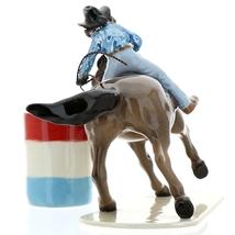 Hagen-Renaker Specialties Ceramic Horse Figurine Rodeo Barrel Racer with Barrel image 6