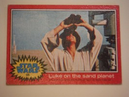 Star Wars Series 2 (Red) Topps 1977 Trading Card # 85 Luke On The Sand Planet - $1.49