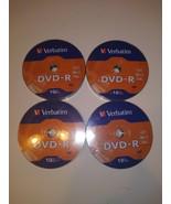 Lot of 4 Verbatim DVD-R 16X 4.7GB/120min Disc 10 Packs New Sealed 40 tot... - $21.77