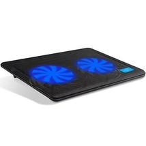 Ultra Slim Laptop Cooler Cooling Pad Chill Mat Quiet Fans USB Powered LE... - €14,46 EUR