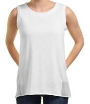 NEW Adrienne Vittadini Ladies' High-Low Sleeveless Top Chalk/White