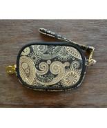 Mud Pie Black & Gold Paisley Tech / Case / Wristlet / Phone Wallet Bag  - $9.00
