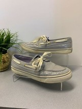 Sperry Top Sider Lavender Sequin Boat Loafers Lace Up Women's 9.5 M - $18.67