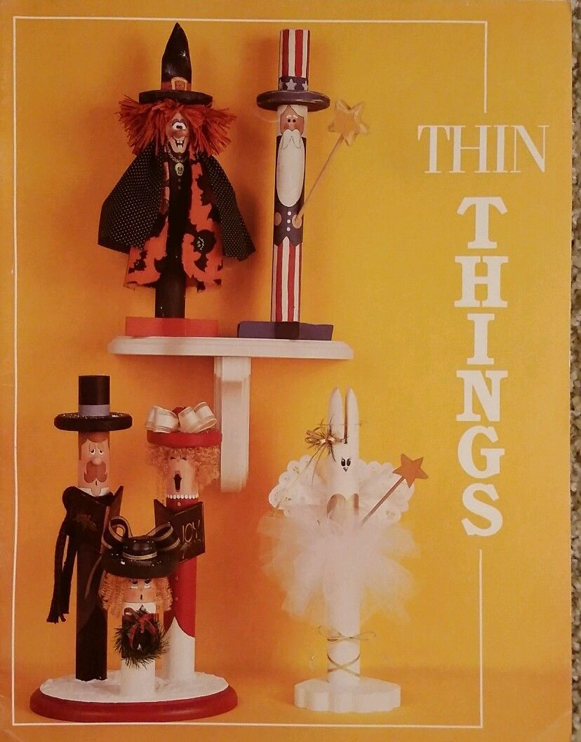 Thin Things by Rebecca Carter Fall Halloween & Holiday Tole Painting Book RARE.
