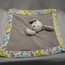 Blankets & and Beyond White Gray Bunny Rabbit Puppy Dog Aqua Blue Lime G... - $49.48