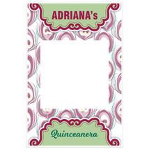 Flower Quinceañera Social Media Selfie Frame Photo Booth Prop Poster - $16.34+