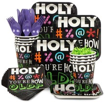 Holy Bleep Birthday Tableware (Plates Napkins Cups Table Covers) (Serves... - $34.99