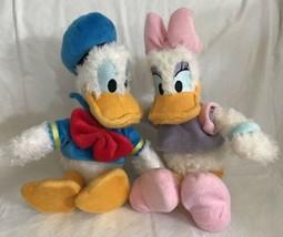 "Authentic Disney Parks Donald Duck Daisy Duck Plush Fuzzy Soft Dolls 10""... - $17.81"