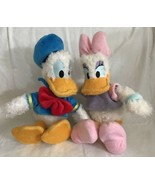 "Authentic Disney Parks Donald Duck Daisy Duck Plush Fuzzy Soft Dolls 10""... - $17.81"