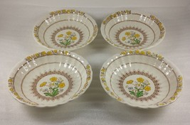 """Set of 4 Spode Buttercup 6 1/4"""" Coupe Cereal Bowl Earthenware 2/7873 - $113.80"""