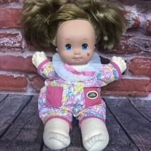 VTG Mattel Toddler Magic Nursery Doll Blonde Hair Blue Eyes 1989 Romper ... - $19.99