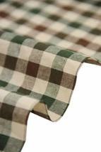 57'' Wide Home Quilting Fabric Cotton Plaids Fabric Coffee&Green(17.5*57 Inches)