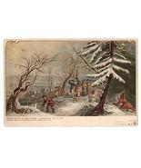 Patriotic Postcard Colonial Heroes #2 Lange Schwalbach PMC Pilgrims Land... - $14.50