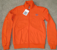 NEW UMBRO TAPED TRACK JACKET S SM SMALL ORANGE BLACK $70.00 60903U DIAMO... - $32.71