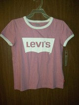 New Girl's Levi's Short Sleeve T-SHIRT Size Small Rose Pink Mauve - $14.65