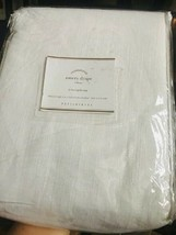 Pottery Barn Emery Drape White 100x108L Curtain Doublewide Just One - $179.46