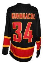 Custom Name # Deutschland Germany Retro Hockey Jersey New Kuhnhackl #34 Any Size image 2