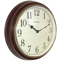 Westclox 73004P 15.5 Round Dark Woodgrain Clock - $37.31