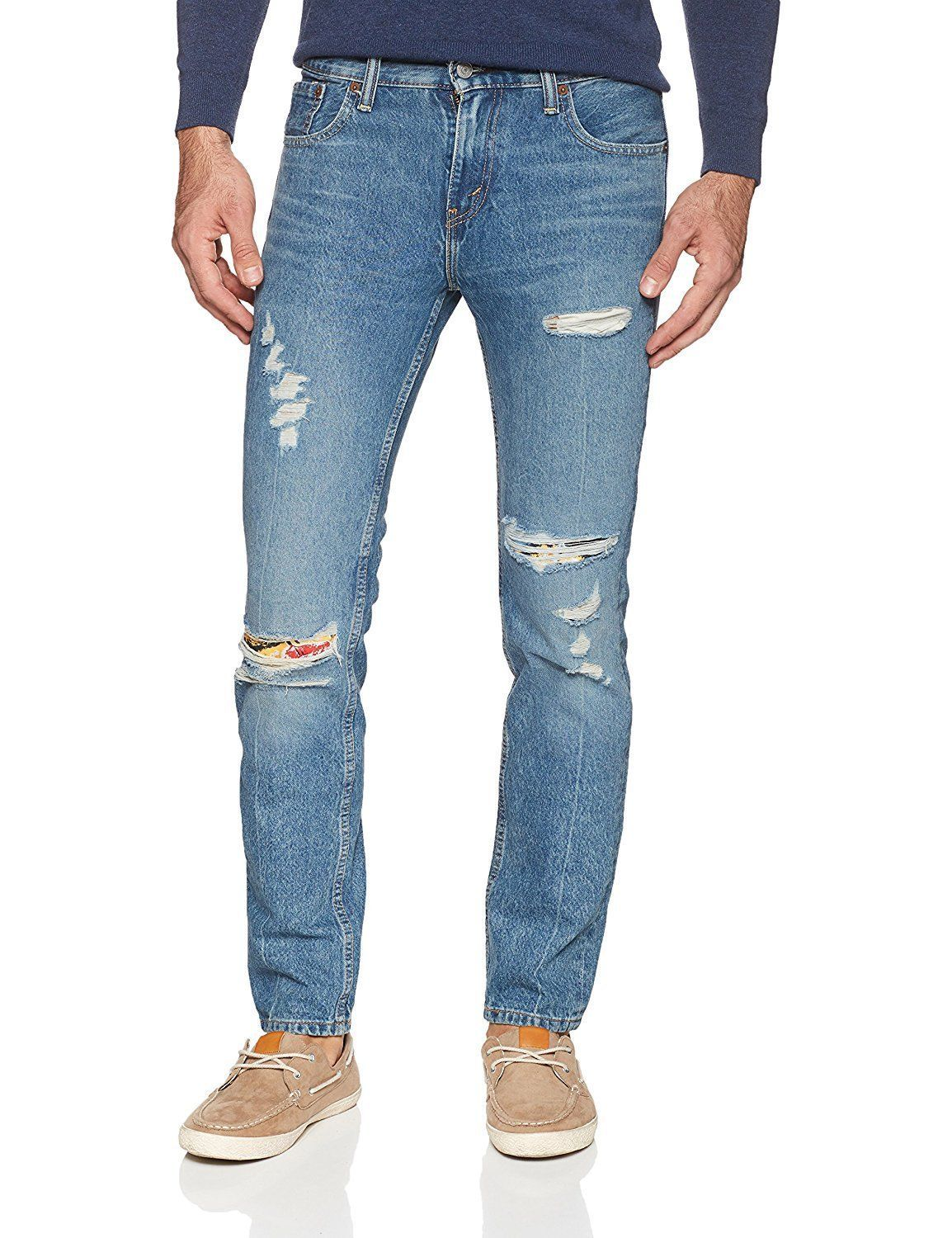Levi's Strauss 511 Men's Destroyed Distressed Slim Fit Stretch Jeans 511-2742
