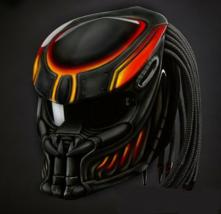 Predator Helmet Lava Black Orange Fire (Dot & Ece Certified) - $250.00