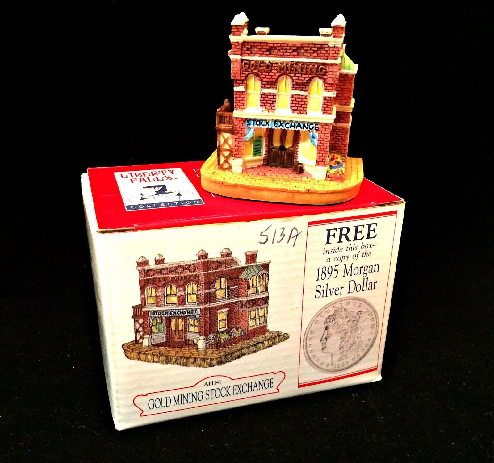 Liberty Falls Collection Gold Mining Stock Exchange Miniature Building AH141