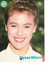 Alyssa Milano Jay Ferguson teen magazine pinup clipping Rodney Harvey Kestner