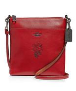COACH Minnie Motif Messenger Crossbody Disney Leather ~NWT Red~ 37534 - $143.20