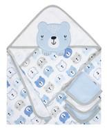 Gerber Baby Boy 4-Piece Blue Teddy Bear ORGANIC Terry Bath Set - $19.99